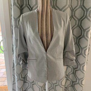 H&M 3/4 Ruched Sleeve Blazer
